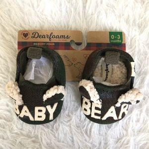 NWT camo dearfoams baby bear slippers
